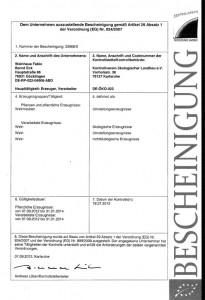 Bio-Zertifikat für Bioweine